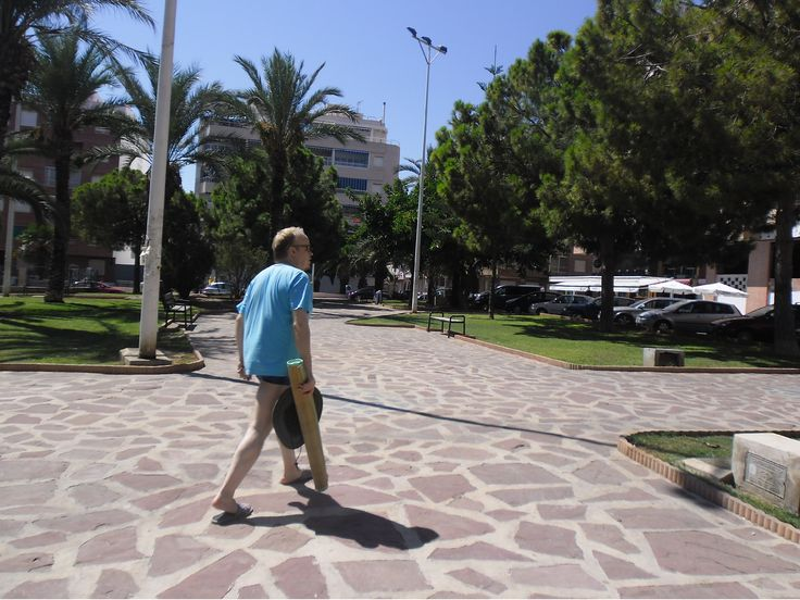 On my holidays in Spain (in 2011)