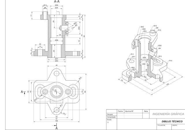 Ejercicios De Autocad 2d Y 3d Conceptos Basicos Linea Circunferencia Recorte Simetria Copiar Autocad Autocad Planos Vistas Dibujo Tecnico