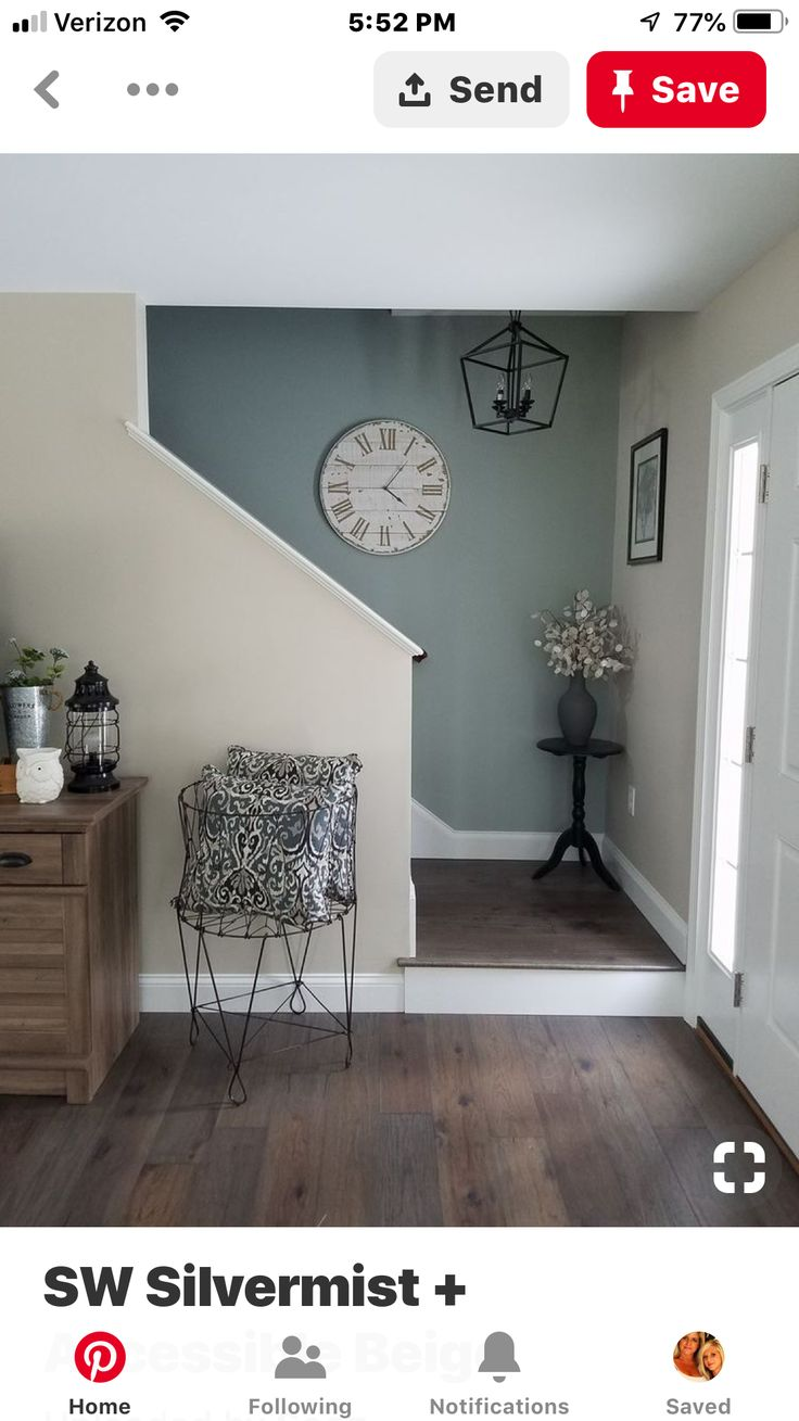 Sherwin Williams Silvermist And Accessible Beige Boys