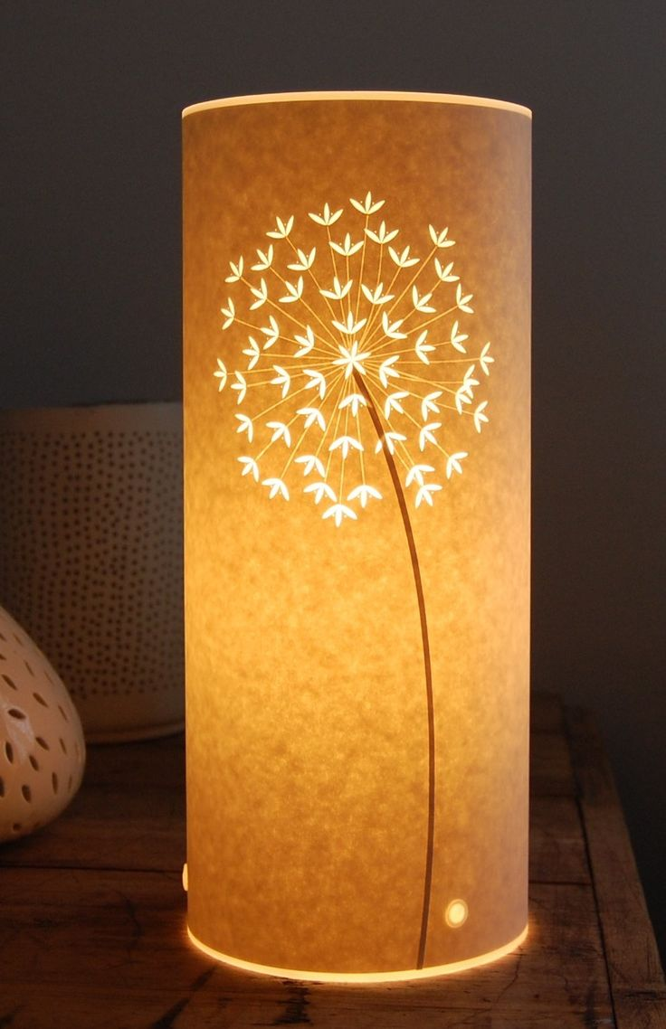 Craft paper lamp shades - Small Allium Table Lamp Paper Cut