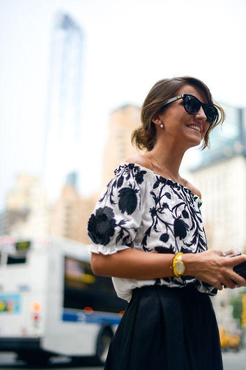 #street #fashion floral blouse / summer