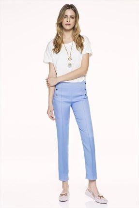 İpekyol - Mavi Pantolon IS1150003013 %49 indirimle 101,00TL ile Trendyol da