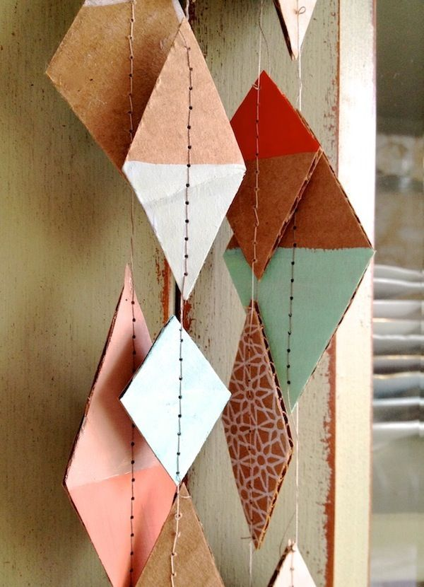 hand-painted cardboard garland