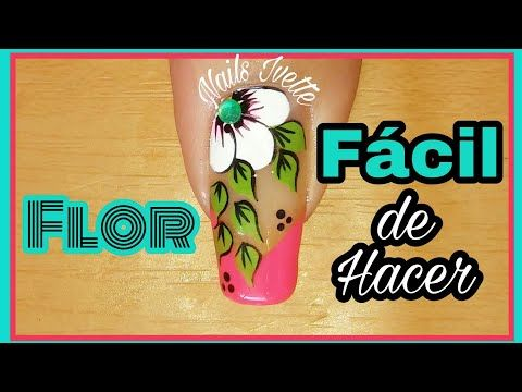 Decoración de uñas flor fácil/Nail decoration flower easy - YouTube