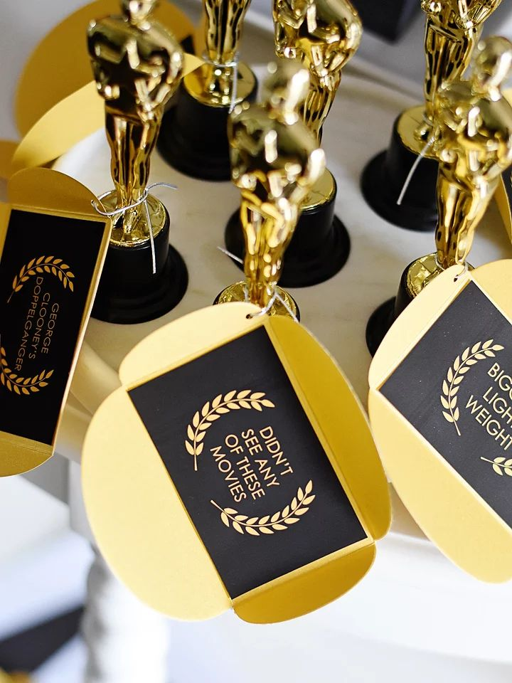 "And the award goes to...Hilarious Guest Awards for your Oscar Party!  ""Really Likes Cats"" or ""Didn't See Any of these Movies"""