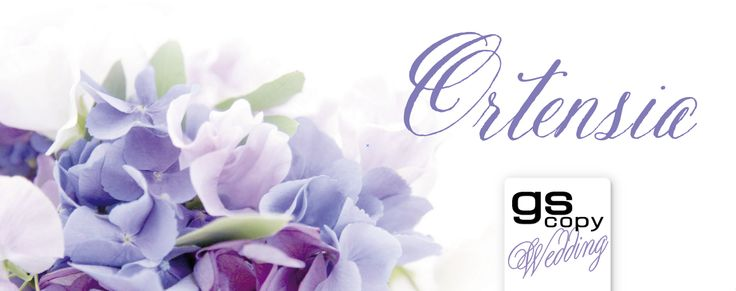 Collezione 2015 Ortensia | Elegante collezione floreale, caratterizzata da un romantico decoro di ortensia con le sue infinite sfumature di lilla e viola.   La sposa che sceglie questo stile si ispira ad un matrimonio dal carattere elegante.