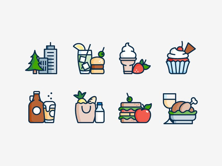More Food Icons Food Icons Best Icons Icon Design Inspiration