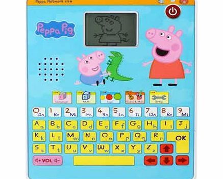 Peppa Pig s Fun and Learn Tablet 21 exciting activities to learn about letters. maths and logic. With fun Peppa Pig animations and music from the show. Even record your own music and personalise with your childs name and an animation http://www.comparestoreprices.co.uk/educational-toys/peppa-pig-s-fun-and-learn-tablet.asp