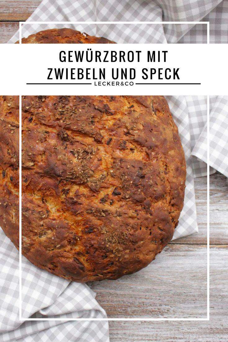 Gewürzbrot mit Zwiebeln, Speck und Käse - Sauerteigbrot