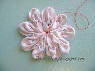 DIY: how to make #ribbon #flower #embellishment