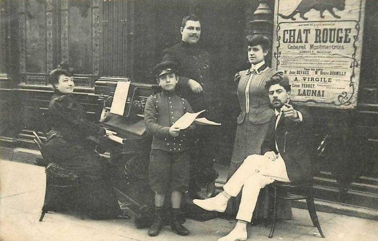 Les cabarets du Paris d'antan Un petit aperçu du Cabaret du Chat Rouge... (carte postale, vers 1900)