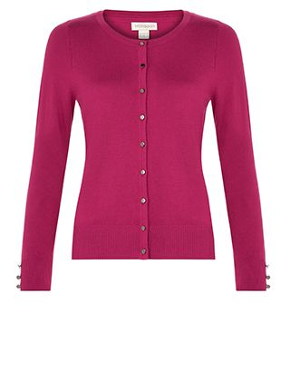 A stylish and versatile wardrobe staple, our Marianne smart cardigan is cut in a neat slim-fitting silhouette with a round collar and full-length sleeves. Me...