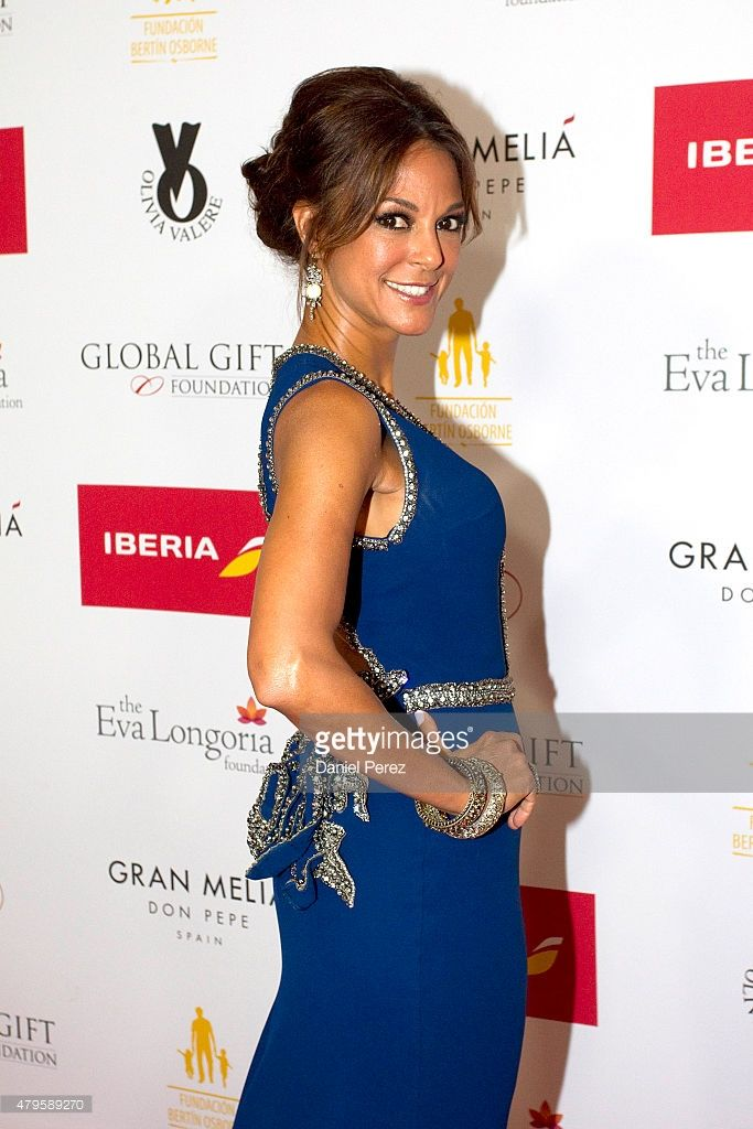 Eva LaRue attends the Global Gift Gala 2015 red carpet at Gran Melia Don pepe Resort on July 5, 2015 in Marbella, Spain.