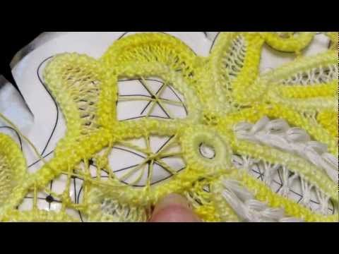 This is a video describing how to make the round filling stitches in Romanian point lace can also be used in battenberg.