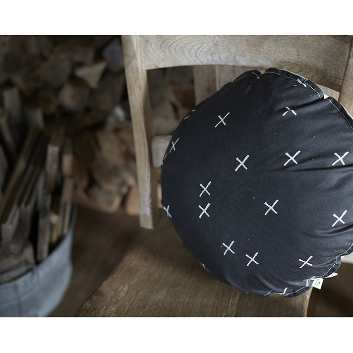 Pony Rider — Little Plus Cushion Black | round Cushions