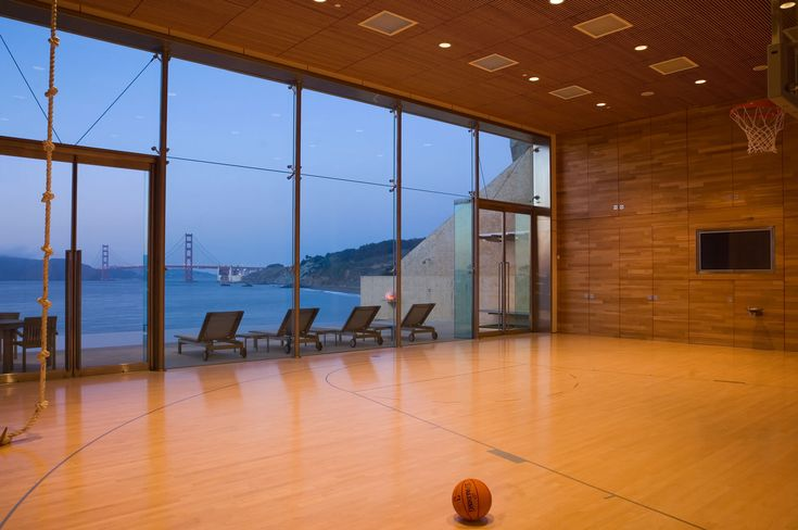 Sea Cliff Addition Stephen Willrich Architecture Indoor Basketball Court Indoor Basketball Home Basketball Court
