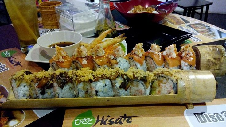 Yummiest and most delicious sushi on earth! You have to try it! Hisato! In surabaya! Raya Gubeng 36! Telp:031 5029095 thx!