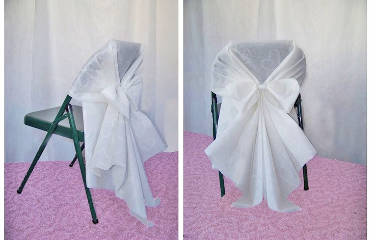 DIY Chair Covers Made From Aisle Runners And A Zip Tie