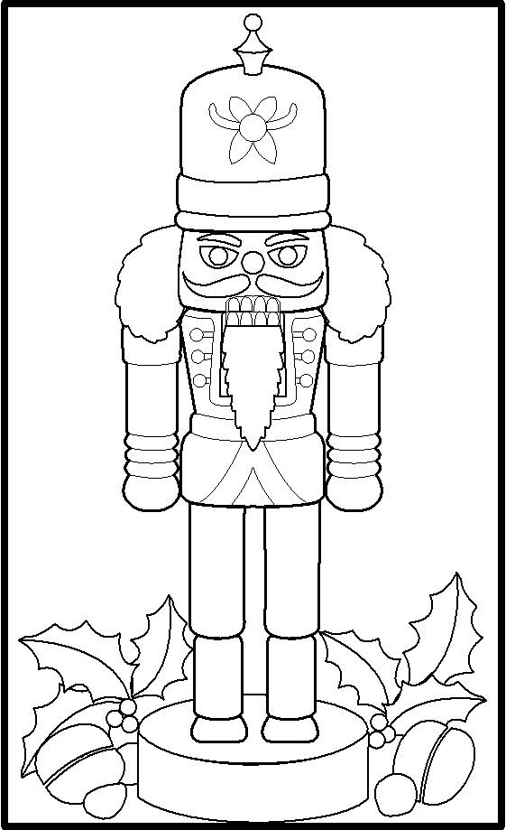 Nutcracker Christmas Nutcrackers And Toy Soldiers Coloring Pages Nutcracker