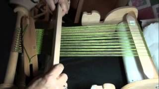weaving with pick up sticks - YouTube