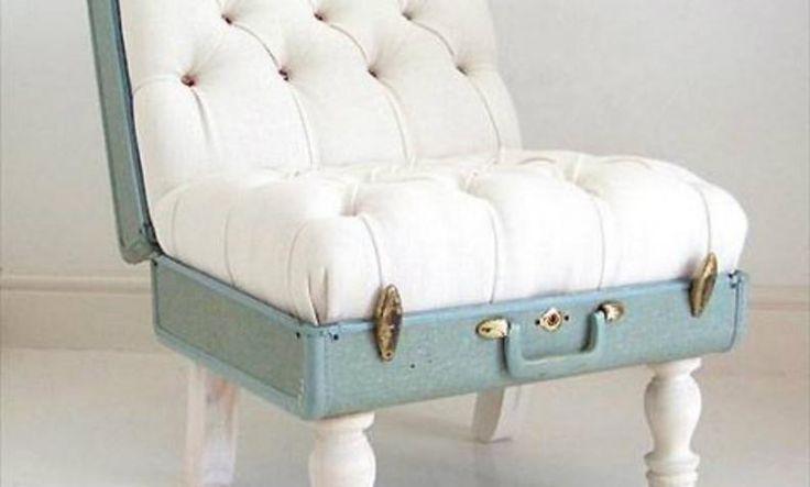 reciclaje de maletas originales muebles retro vintage