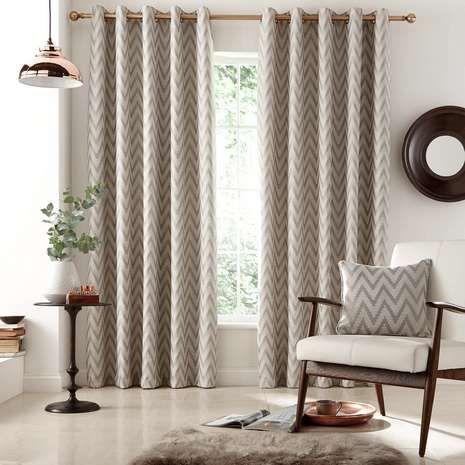 Grey Zanzibar Lined Eyelet Curtains | Dunelm... French doors