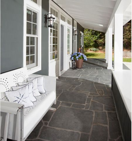 27 Best Images About Painted Cement Patios And Walkways On: outside veranda designs