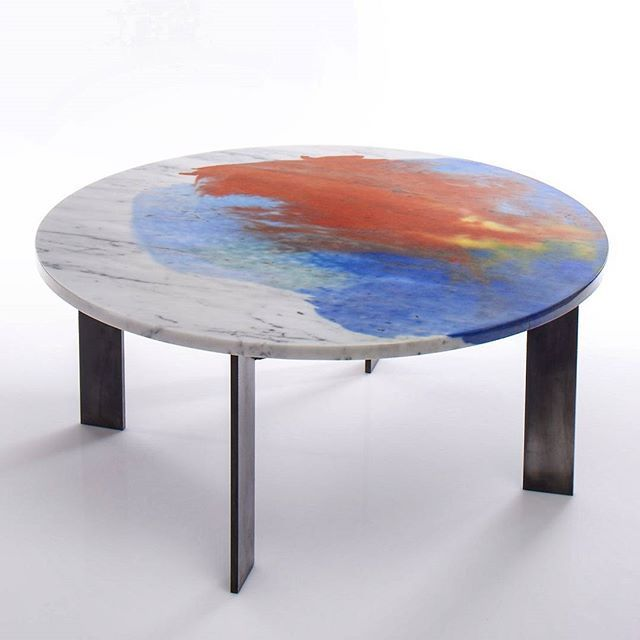 Dyed Marble Tables Back In The Studio After Being Nicely Photograph By  Sylvaindeleuphotographer Via Silostudio
