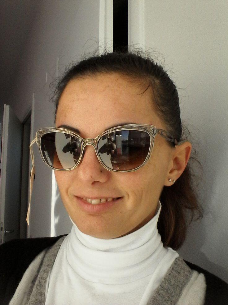 Eccolo indossato l'occhiale da sole filo di ferro #handmade #treviso #madeinitaly #veneto #sunglasses #eyewear #gift #news