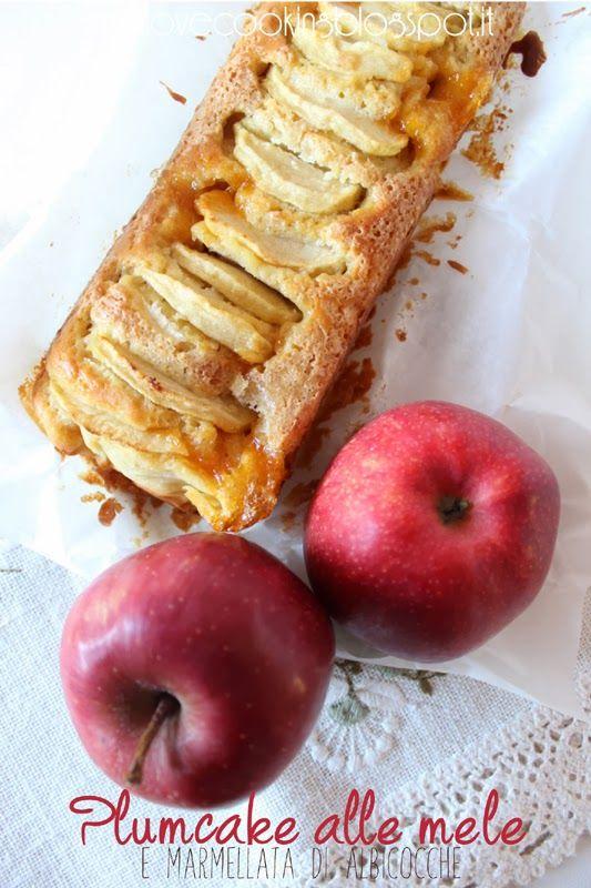 love cooking: Plumcake alle mele e marmellata di albicocche