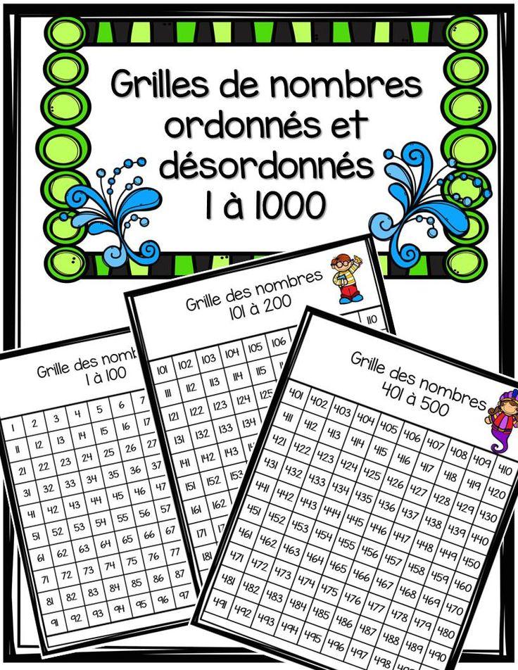 Voici 20 grilles de nombres. Chaque grille comprend 100 nombres, Vous obtiendrez…