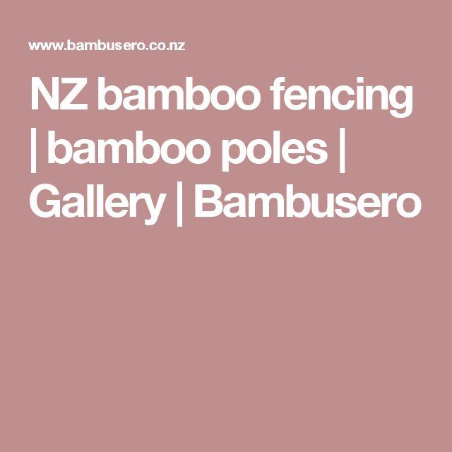 NZ bamboo fencing | bamboo poles | Gallery | Bambusero