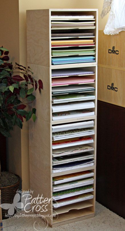 Triple the Scraps: Organizational {Friday} Scrap 'n Cube Paper Tower
