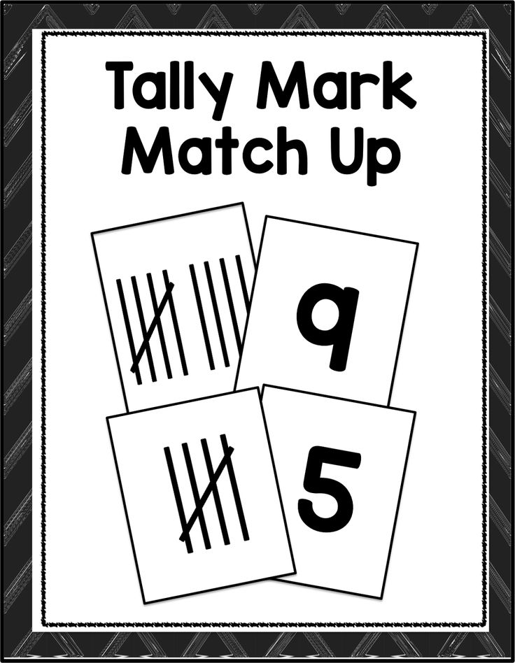 FREE Tally Mark practice  cards from Time4Kindergarten.com