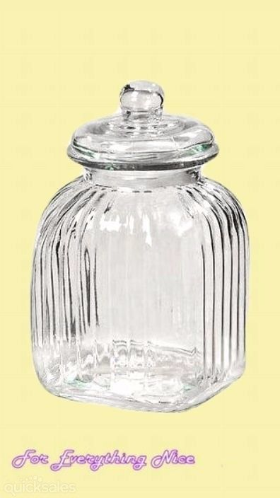 Medium Ribbed Apothecary Jar Wedding Lolly Buffet Party Occasions DIY Rent For Hire  by J7339 - $10.00