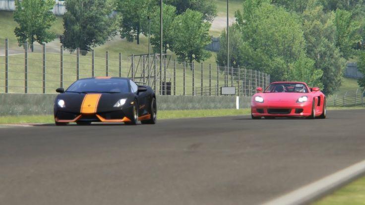 Battle Porsche Carrera GT vs Lamborghini Gallardo SL Racint at Mugello