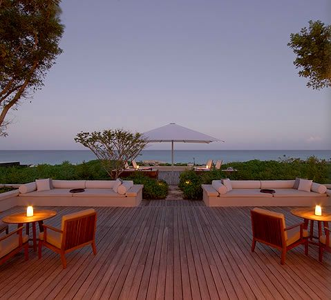 AMANYARA oceanfront loungers at artists villa. #amanyara #turks #caribbean #island #travel #secret #escapes amanyara.com