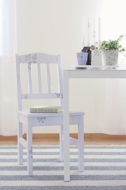 Simple shabby chic kitchen chair redo