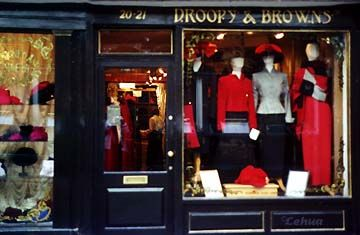 York: Droopy Browns window right: suits
