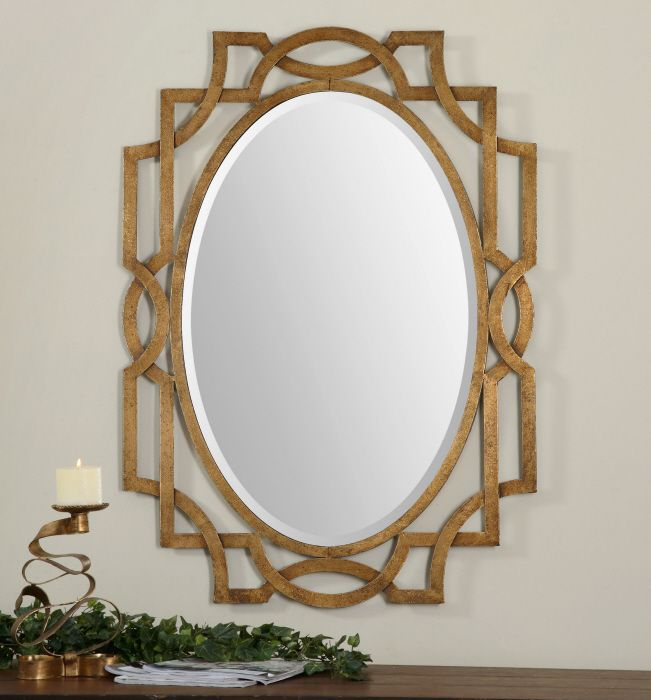 Image Of Gold Metal Framed Mirror at The Home Depot Mobile