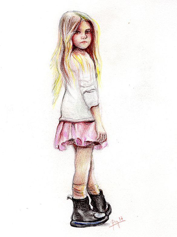 Nina Con Sus Botas Nuevas Ninos Dibujos Para Ninos Lapices De Colores