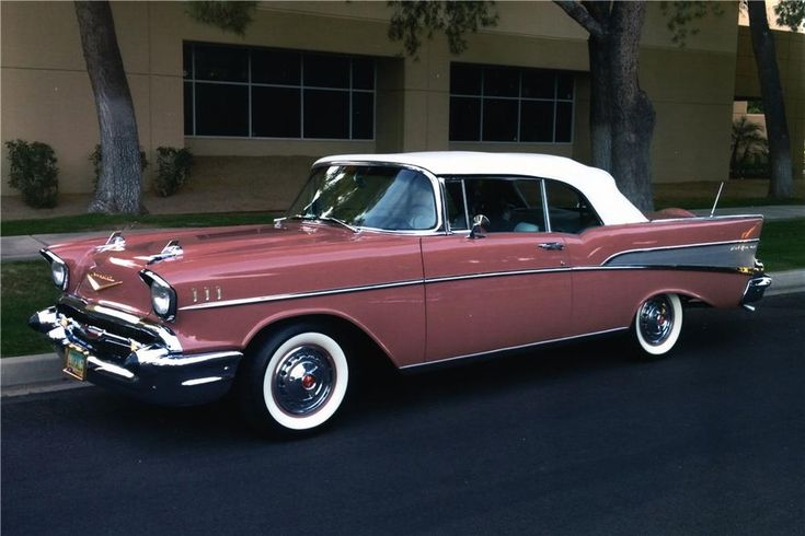 1957 CHEVROLET BEL AIR CUSTOM CONVERTIBLE – Side Profile – 170013