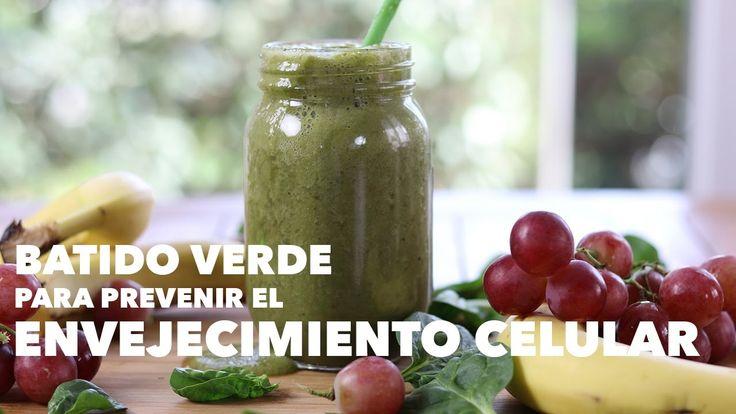 Smoothie verde para prevenir el envejecimiento celular | Receta antienvejecimiento | Batido de uvas - YouTube