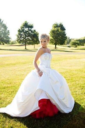 jupon de mariée rouge C'est trop ce que j'aurais du faire le jupon fuschia !!!