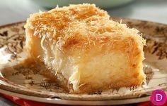 Κανταϊφι με κρέμα γαλακτομπούρεκου