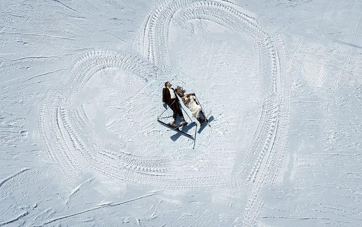 Φωτογράφηση γαμου μεσα στο χιονι Love -myWeddingstar.gr via Rekouniotis