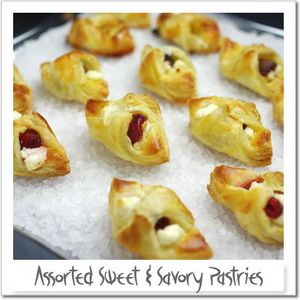 Assorted Sweet and Savory Pastry ideas for baby shower