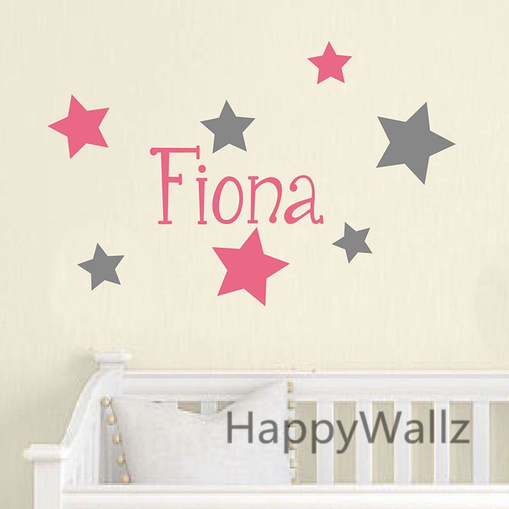 Baby Nursery Custom Name Wall Sticker DIY Custom Name Stars Wall Decal Kids Room Children Name Wall Decor C33-in Wall Stickers from Home & Garden on Aliexpress.com | Alibaba Group