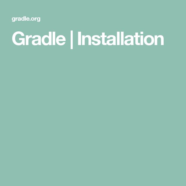 Gradle | Installation