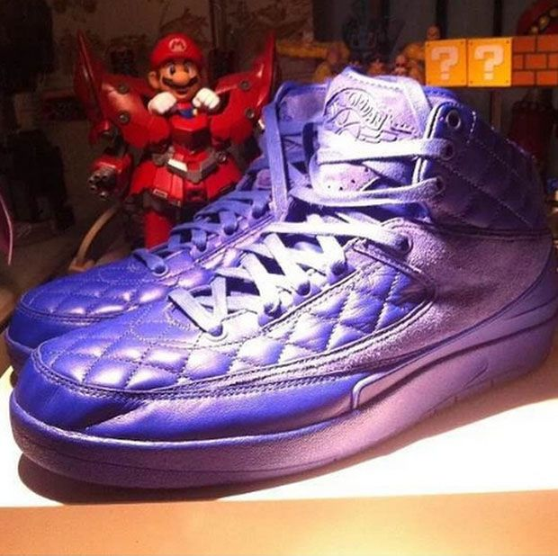 Nike x Trendy - 2015 Nike x Just Don Air Jordan 2 Retro Bright Blue Shoes for Men